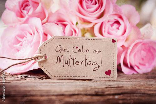 Fotobehang Rozen Alles lIebe zum Muttertag!