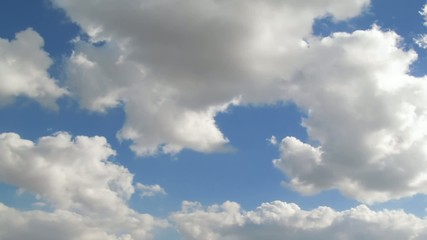 Sky and clouds timelapse. Summer sunny day footage.