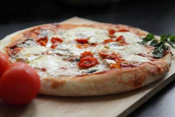 Freshly baked homemade italian pizza