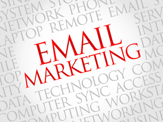 Email Marketing word cloud concept