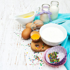 ingredients needed for baking cupcakes