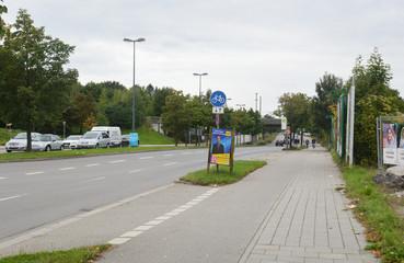 Окончание улицы Moosacher (Мюнхен, Германия)
