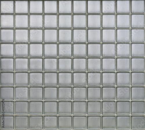 Background of glass blocks wall - 81072476