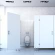 Public toilet cubicle. 3d rendering - 81072828