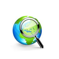 Global search glossy vector icon