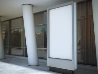 Blank advertising panel. 3d rendering