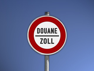 Schild DOUANE-ZOLL