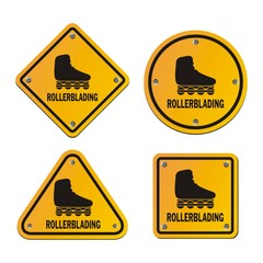 rollerblading signs