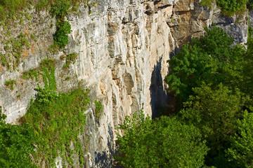 Giant vertical rocky walls