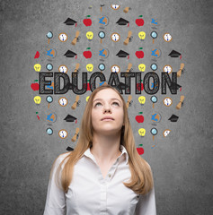 Young lady is looking for education opportunities