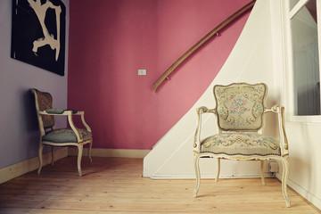 intérieur rustique vintage