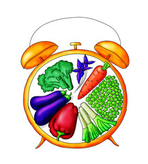 Часы овощи здоровый режим дня