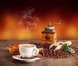 Fototapeta Kawa jest smaczna - Coffee still life © Jag_cz