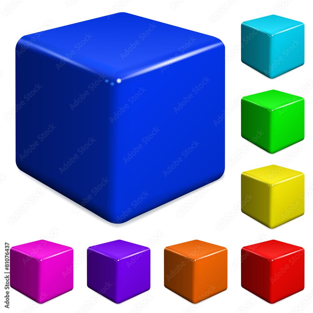 plastik kwadrat wektor - powiększenie