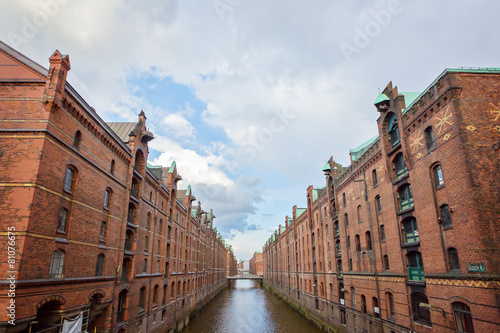Leinwandbild Motiv Speicherstadt - Hamburg