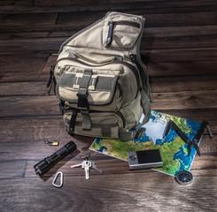 Backpack - emigrate concept