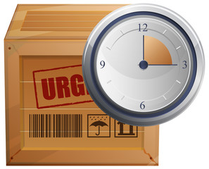 Logistics Time Managment - Illustration