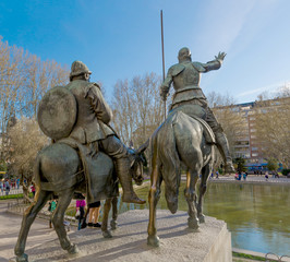 Don quijote guides Sancho
