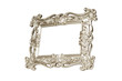 Champagne carved picture frame isolated with clipping path