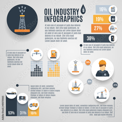 Oil Industry Infographic - 81078063