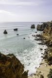 Western Algarve Cliffs Atlantic beach scenario. poster