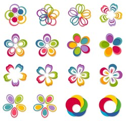 Flower. Abstract Logo design