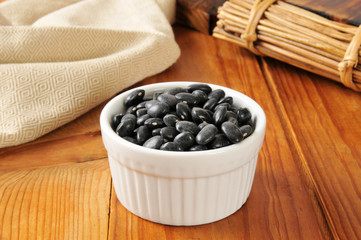 Bowl of black turtle beans