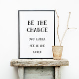 BE THE CHANGE. Hipster scandinavian style room interior
