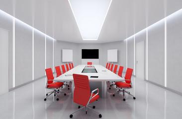 Modern Meeting Room. 3d Illustration.