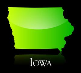 Iowa green shiny map