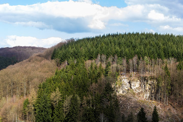 Arbor on the hill of Larochette, Luxembourg