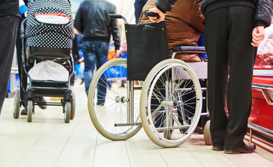 wheelchair invalid in shop