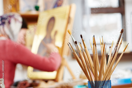 icon painting concept - 81081237