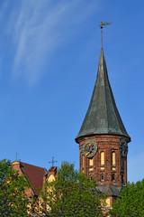 Koenigsberg Cathedral, symbol of Kaliningrad. Russia