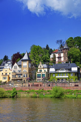 Quay of the the river in summer Heidelberg