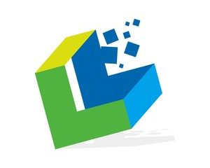 abstract L square logo