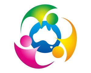abstract health care people logo