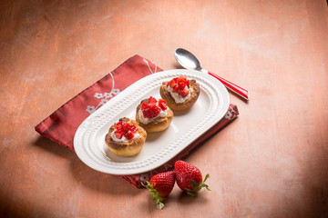 homemade strawberries pastry