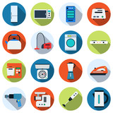 Kitchen appliances vector icons