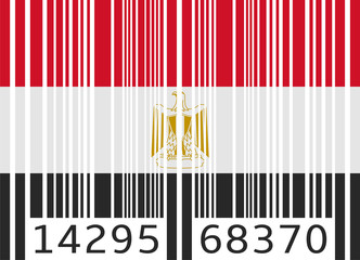 bar code flag egypt