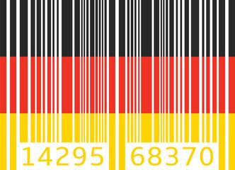 bar code flag germany