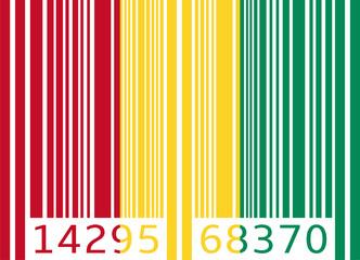 bar code flag guinea