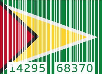 bar code flag guyana