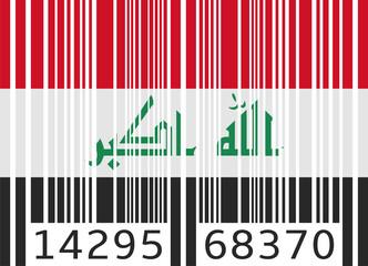 bar code flag iraq