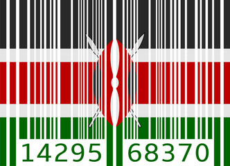 bar code flag kenya
