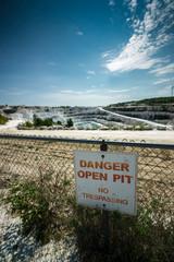 Danger Open Pit Sign