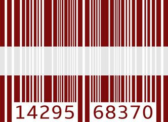 bar code flag latvia