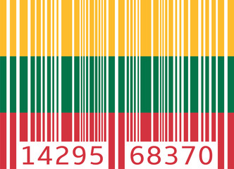 bar code flag lithuania