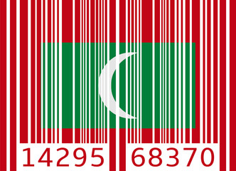 bar code flag maldives