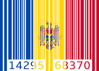 bar code flag moldova